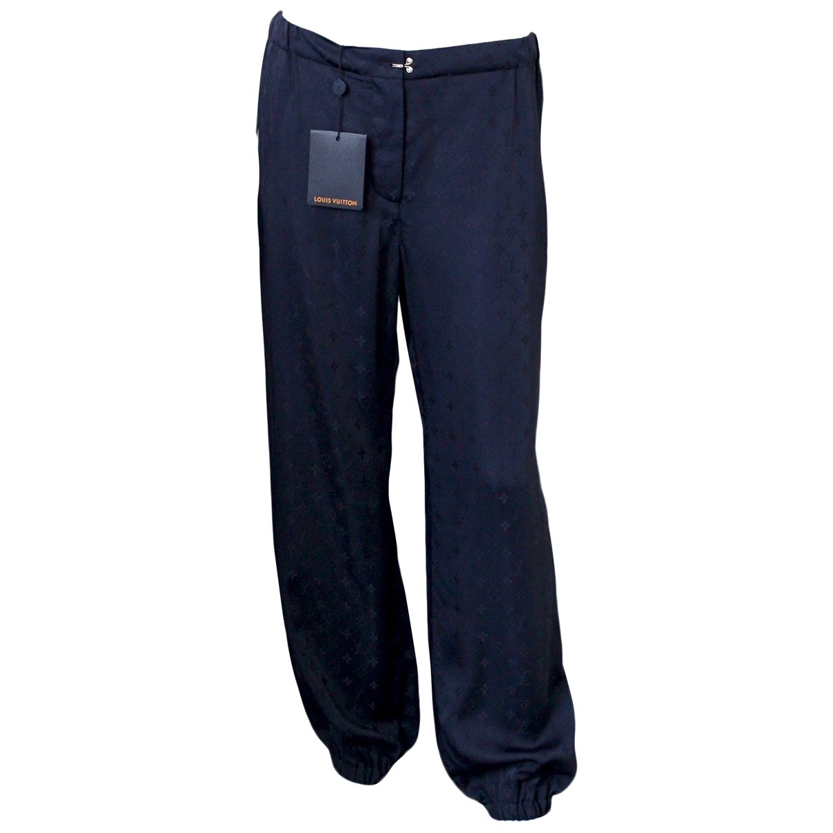 Louis Vuitton \N Navy Trousers for Women 12 UK