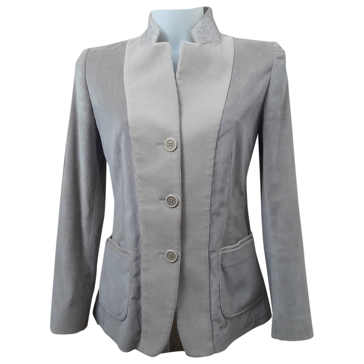 Brunello Cucinelli \N Ecru Velvet jacket for Women 40 IT
