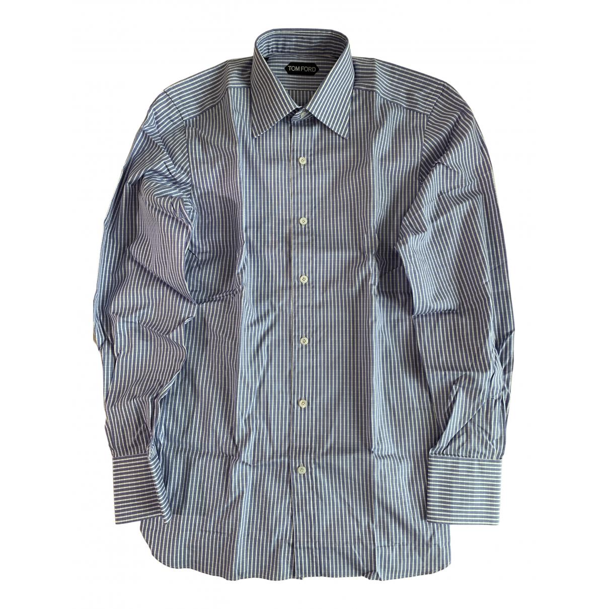 Tom Ford - Chemises   pour homme en coton - bleu