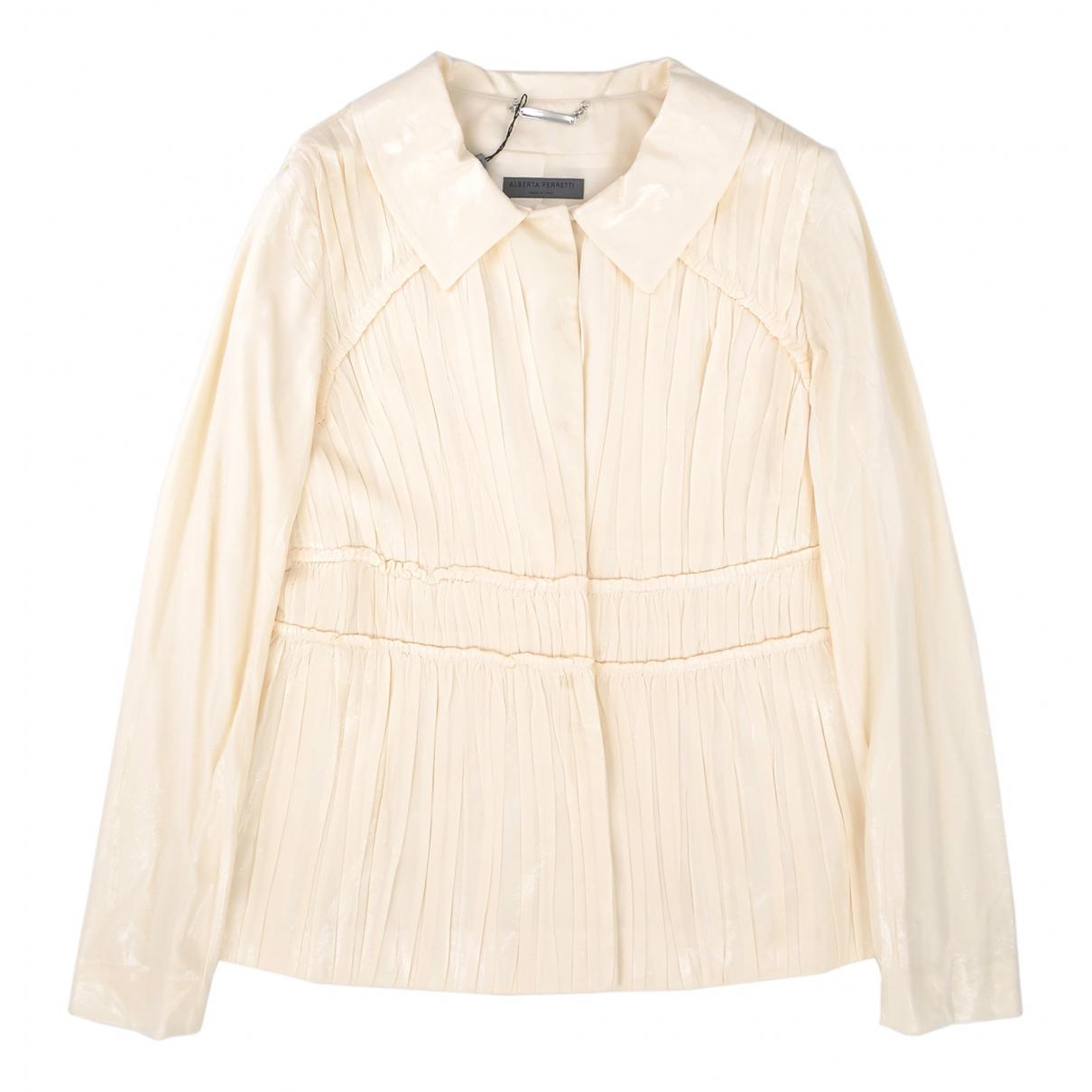 Alberta Ferretti - Veste   pour femme en coton - jaune