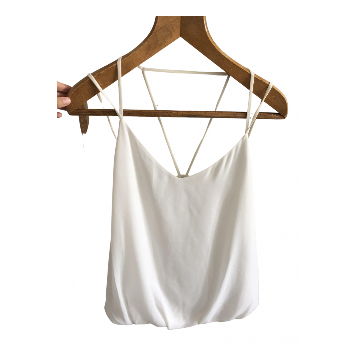 Non Signé / Unsigned N White  top for Women 40 FR