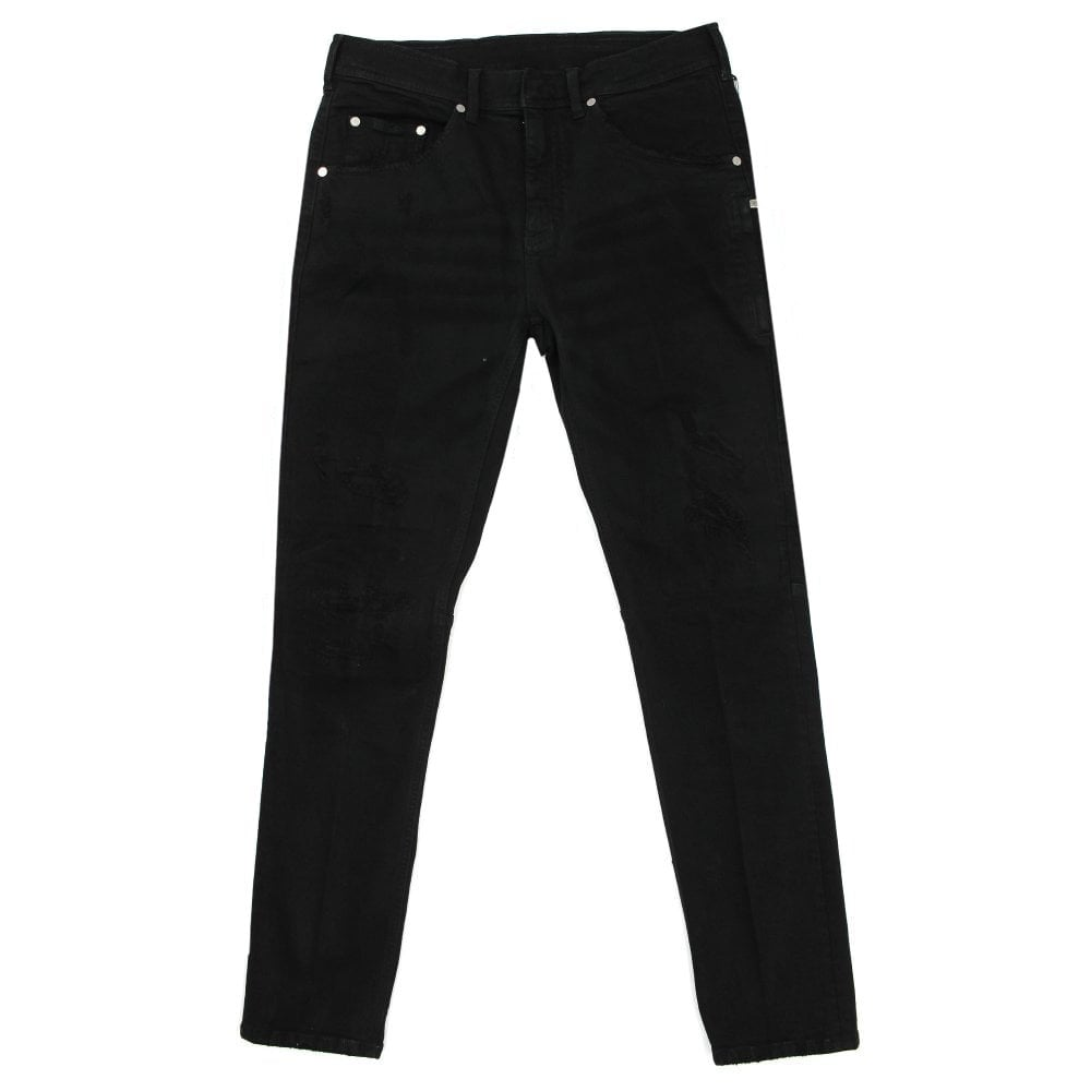 Neil Barrett Distressed Slim Jeans Colour: BLACK, Size: 32 30