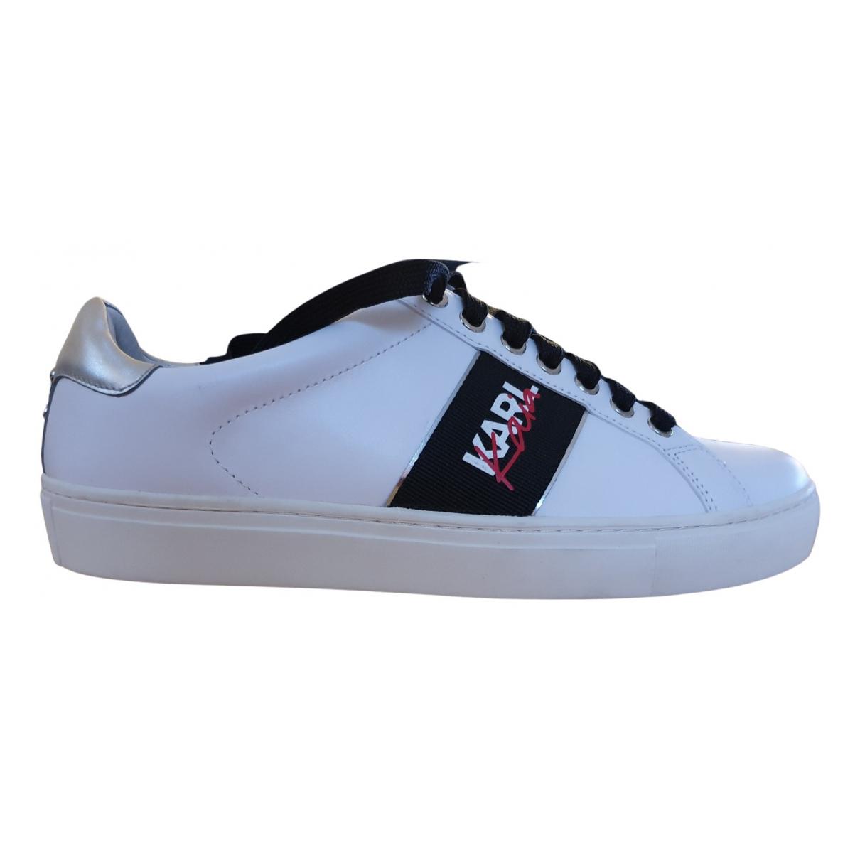 Karl Lagerfeld \N Sneakers in  Weiss Kunststoff