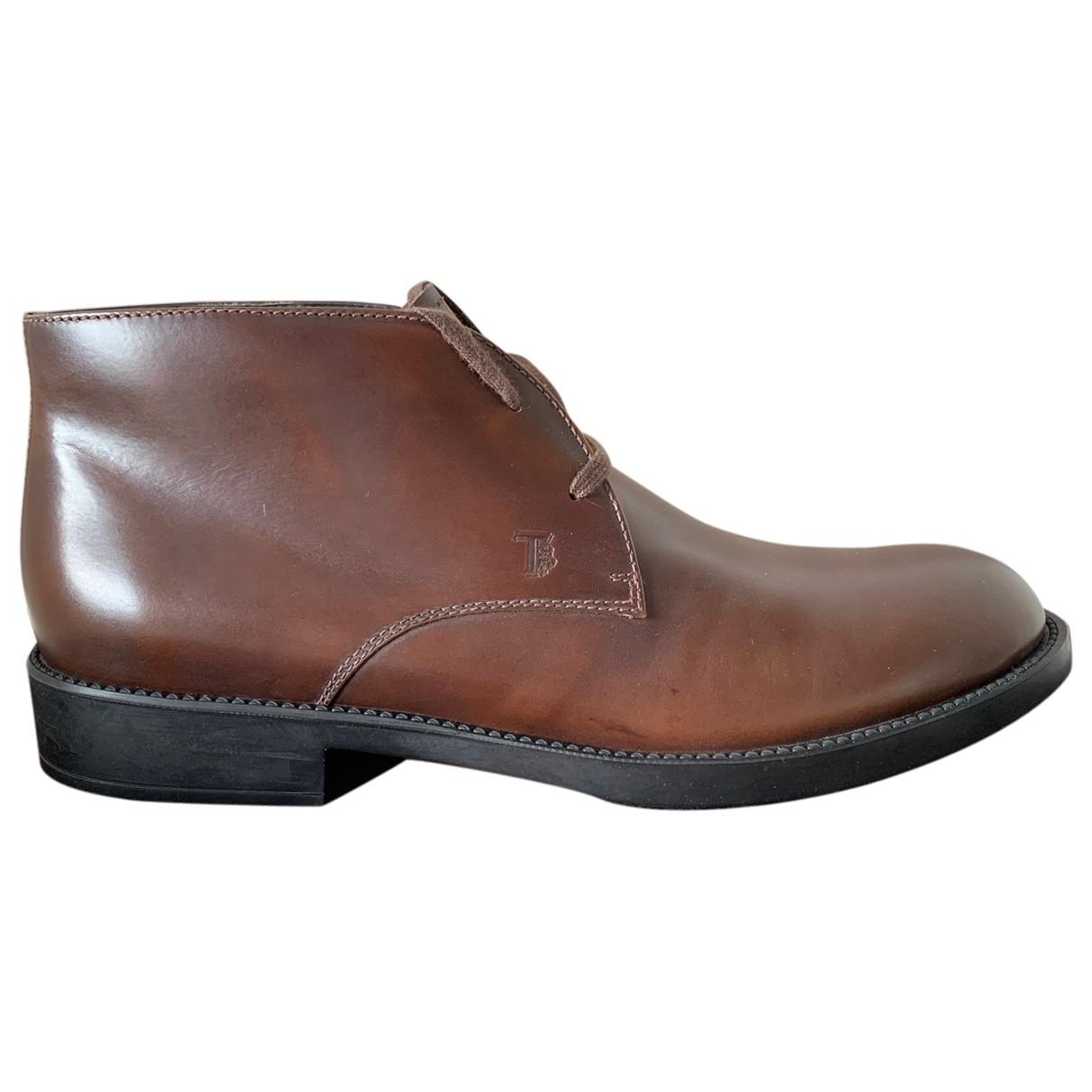 Tod's \N Stiefel in  Braun Leder