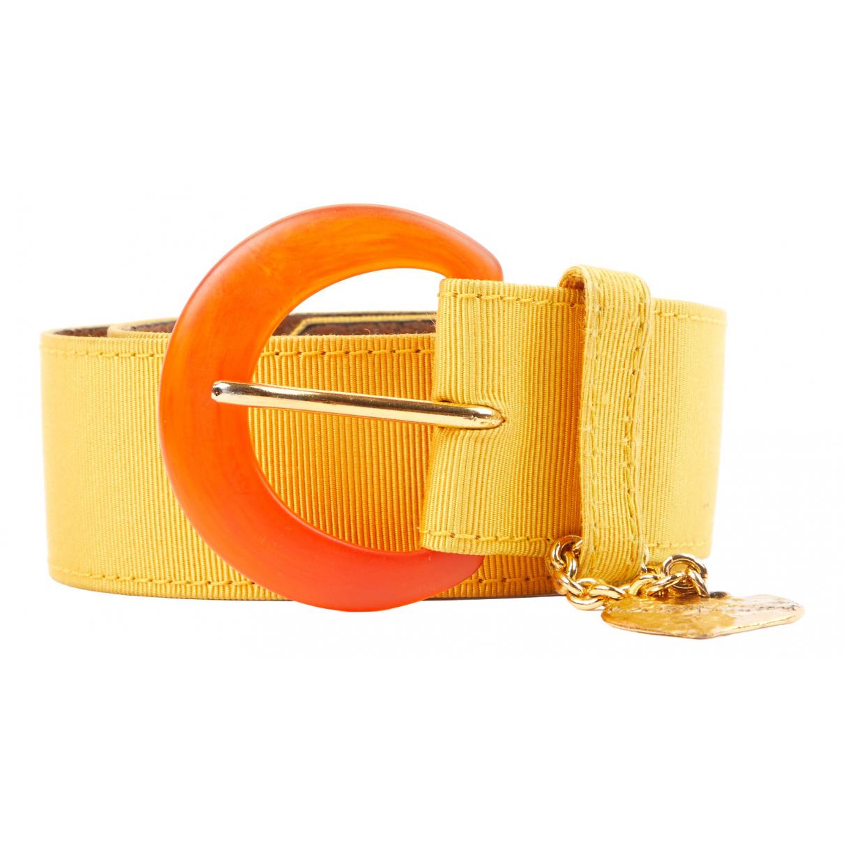 Yves Saint Laurent N Yellow Cloth belt for Women 75 cm