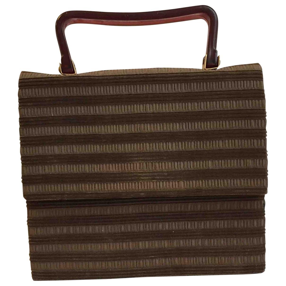 Non Signé / Unsigned \N Brown Silk handbag for Women \N