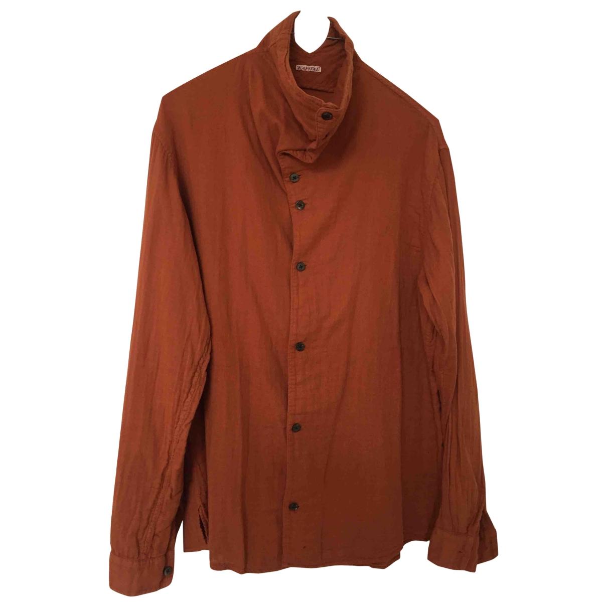 Non Signé / Unsigned \N Orange Cotton  top for Women M International