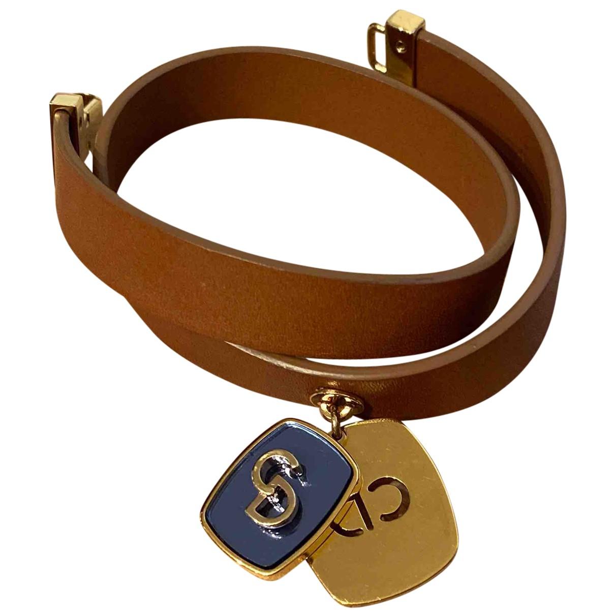 Dior - Bracelet   pour femme en cuir - marron