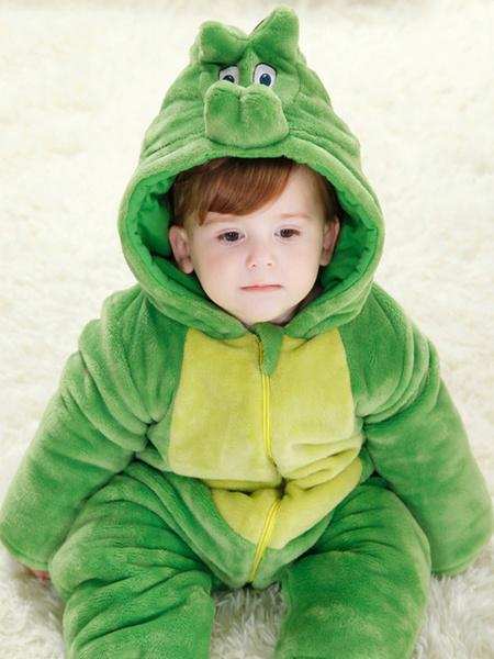 Milanoo Dinosaur Pajamas Kigurumi Onesie Toddlers Flannel Jumpsuit For Kids Halloween