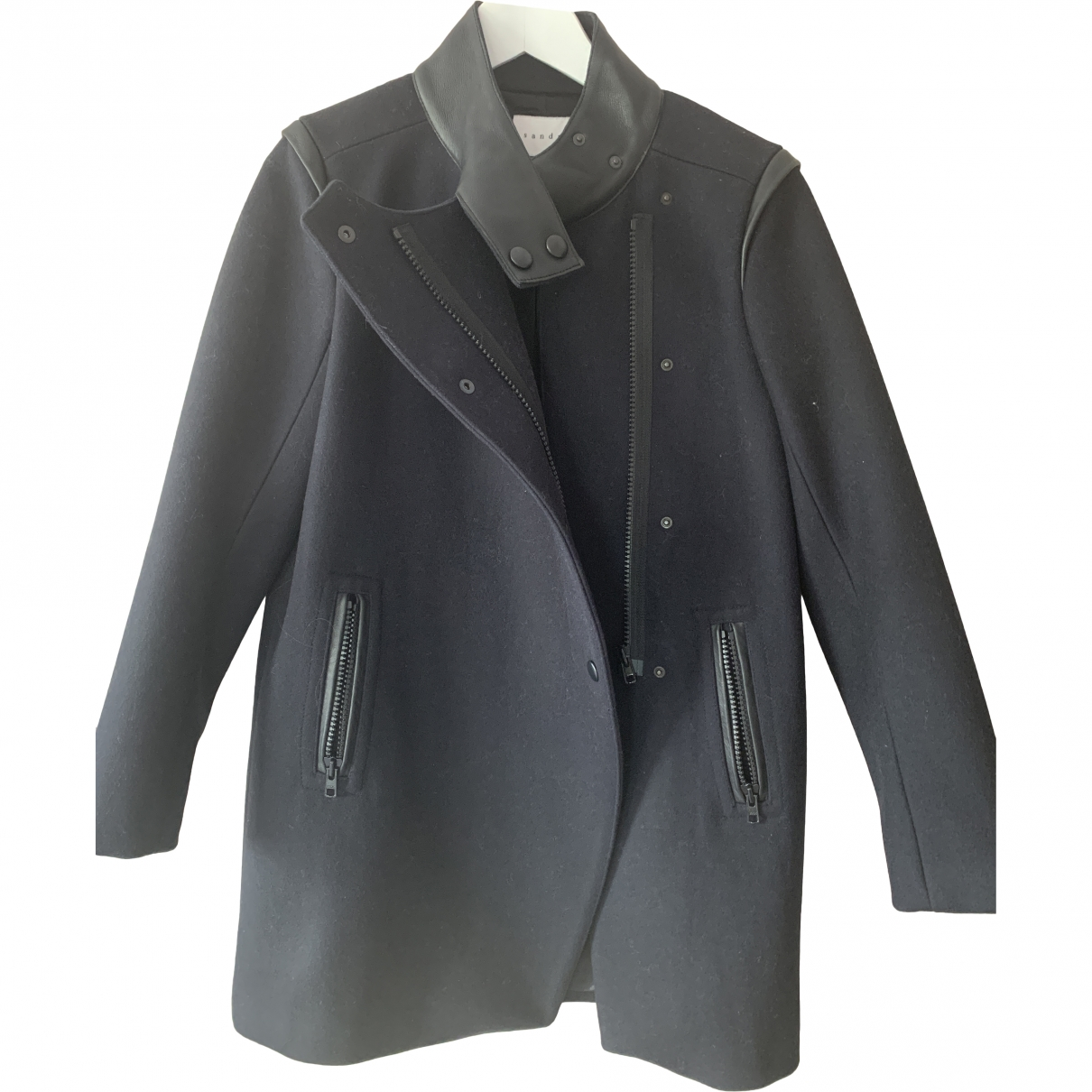 Sandro \N Black Wool coat for Women 38 FR