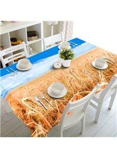Stunning Autumn Golden Cornfield Prints Dining Room Decoration 3D Tablecloth