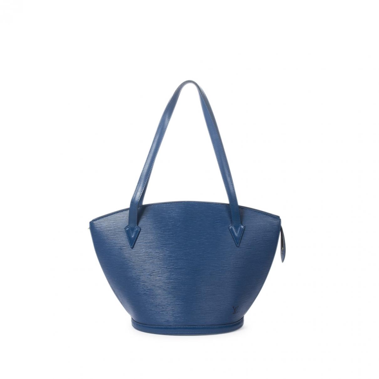 Louis Vuitton Saint Jacques Handtasche in  Blau Leder