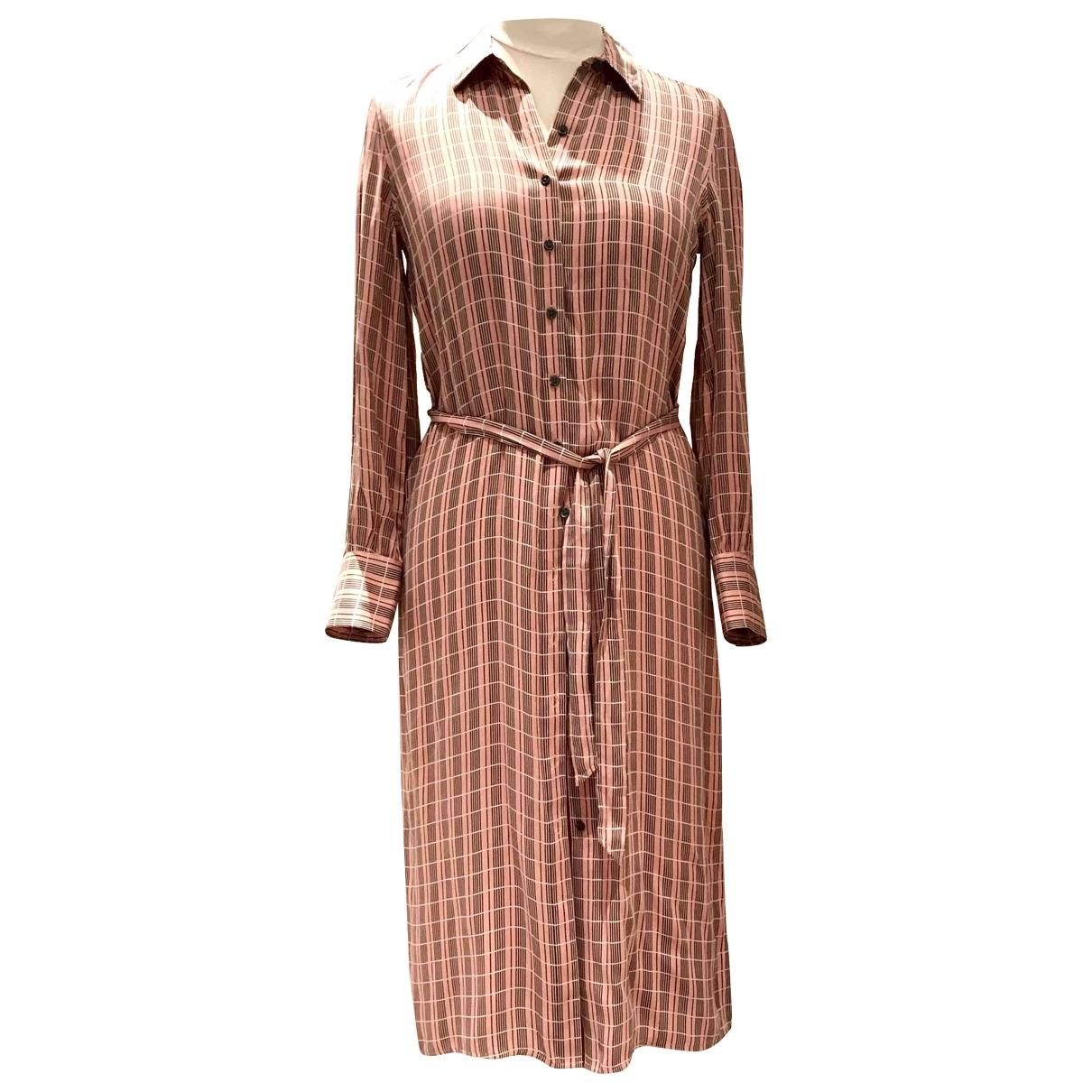 Equipment \N Pink Silk dress for Women S International