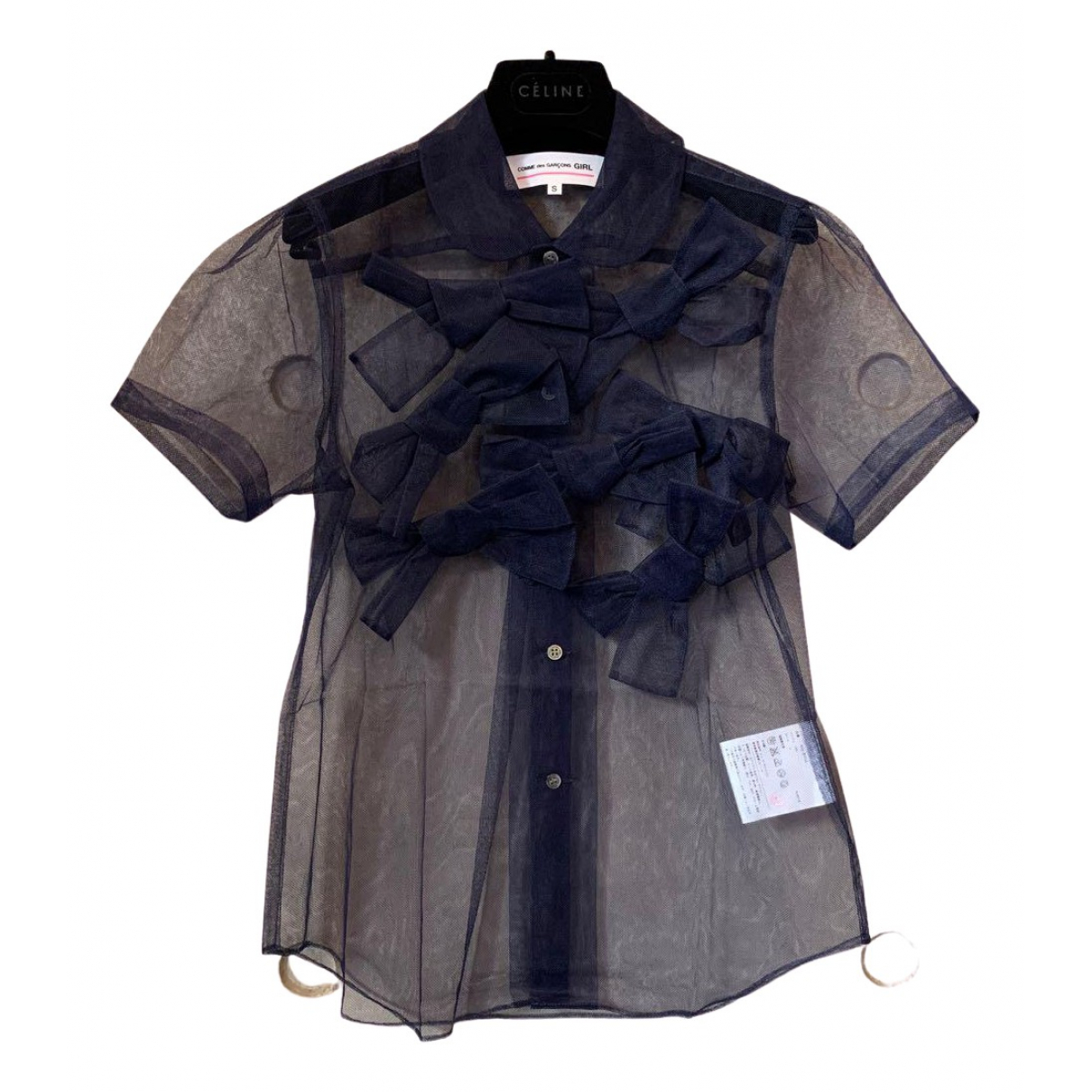 Comme Des Garcons \N Top in  Marine Polyester