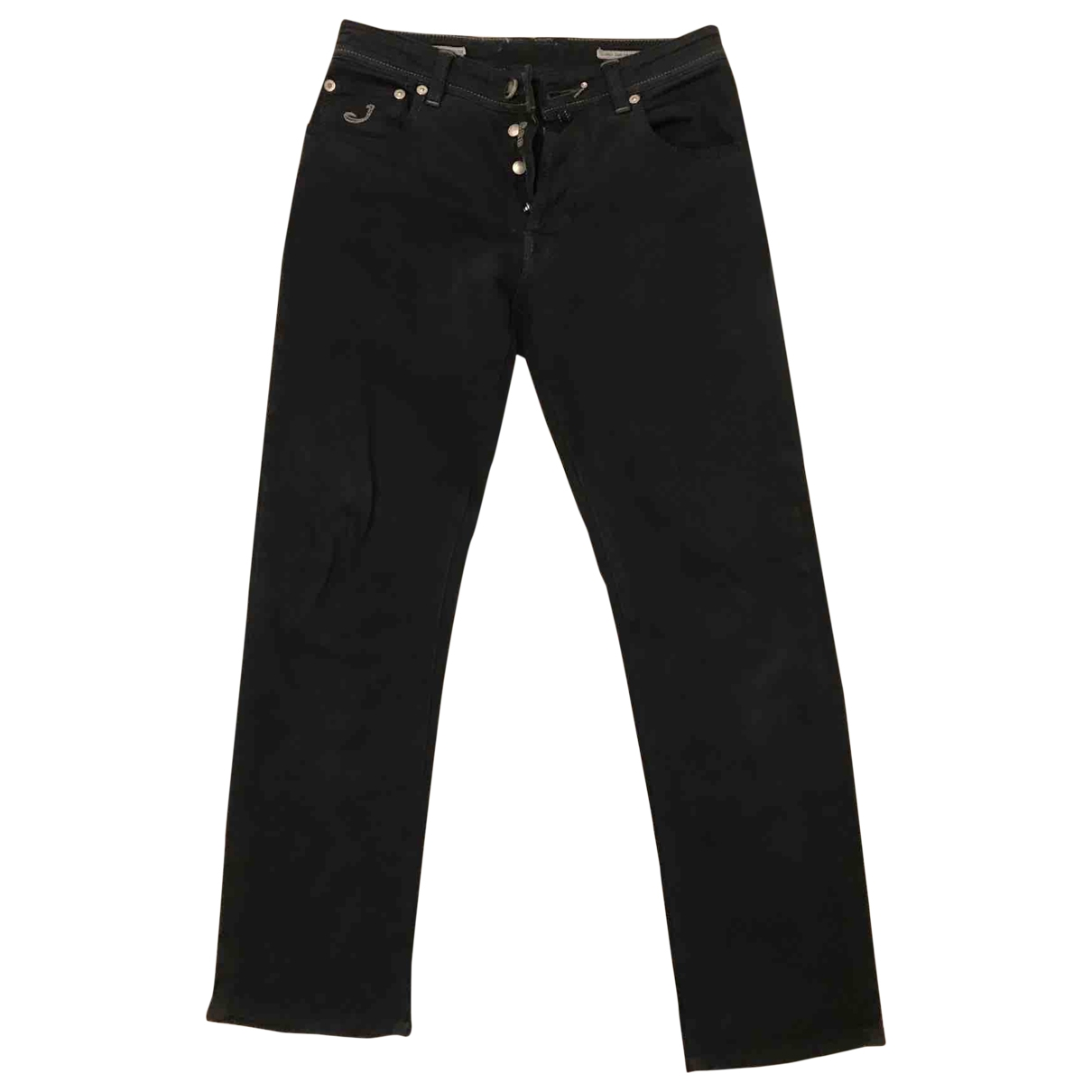 Non Signé / Unsigned \N Black Cotton - elasthane Jeans for Men 32 US