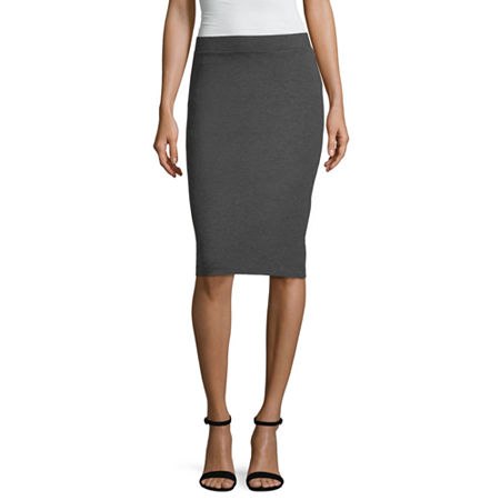 Liz Claiborne Studio Ponte Skirt - Tall, X-large Tall , Gray