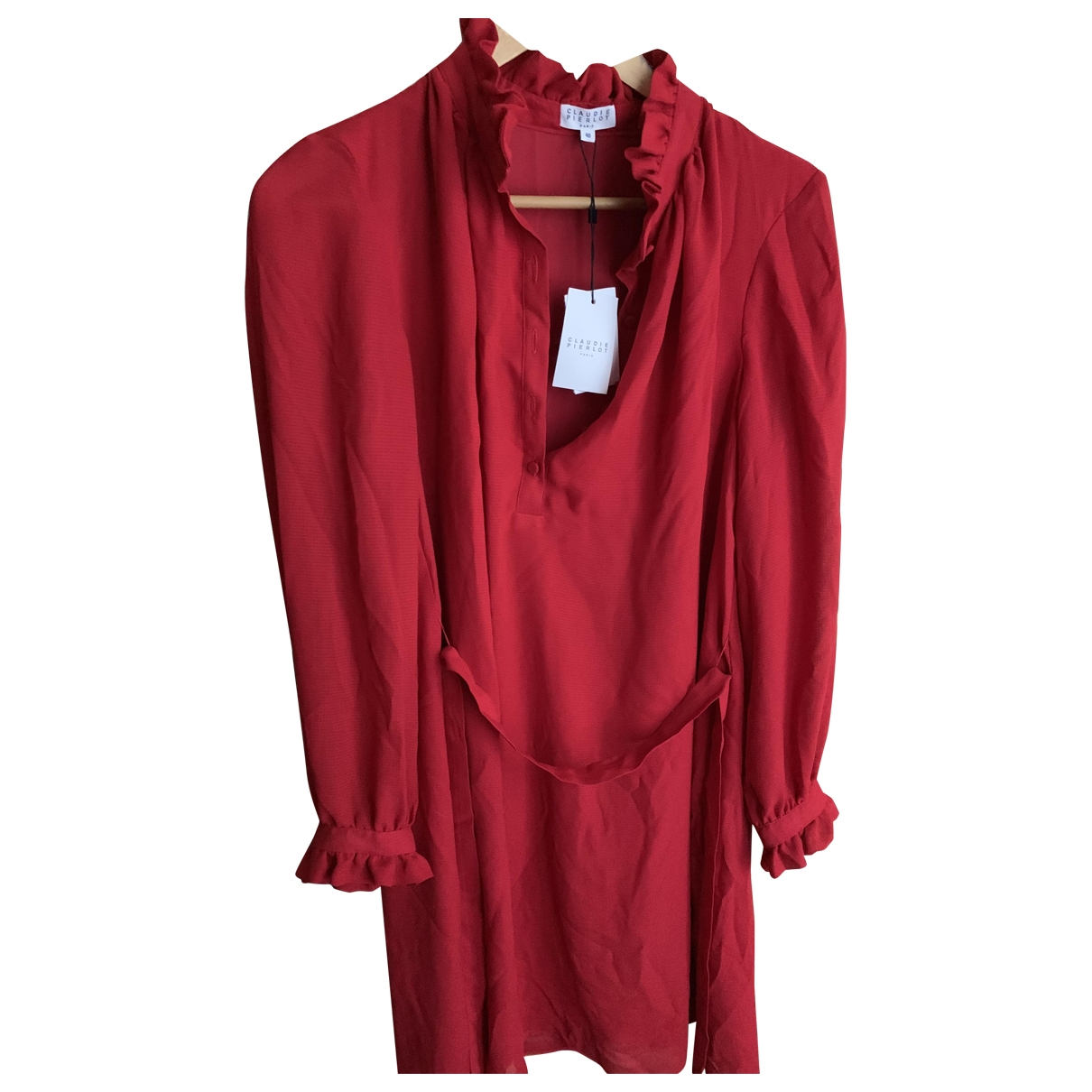 Claudie Pierlot \N Red Cotton dress for Women 40 FR