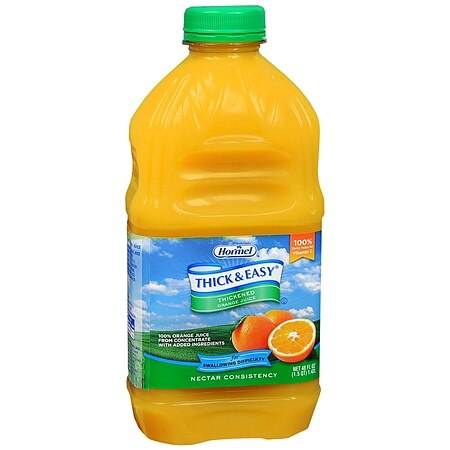 Hormel Thick & Easy Thickened Orange Juice Nectar Consistency - 48.0 oz x 6 pack