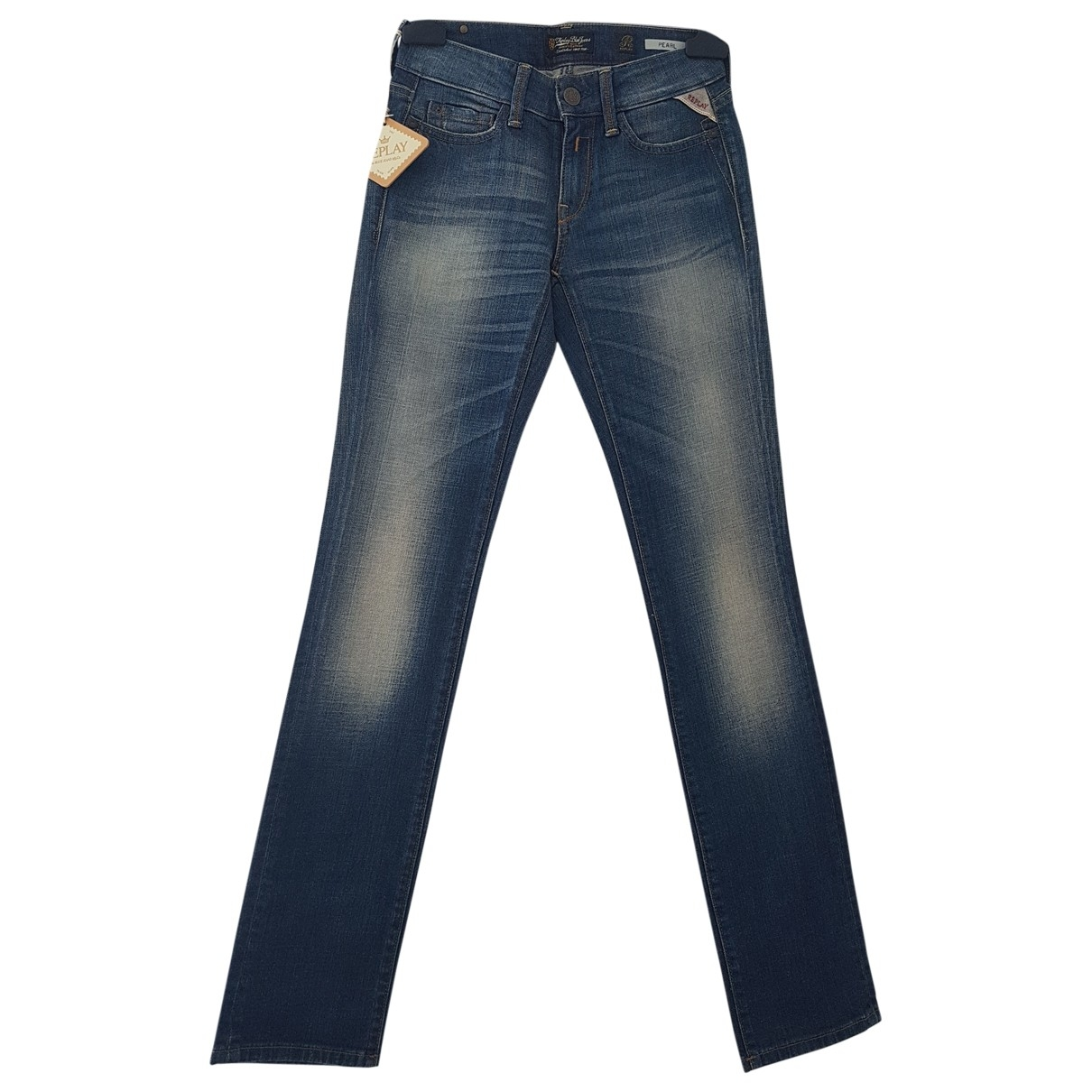 Replay \N Blue Cotton Jeans for Women 24 US