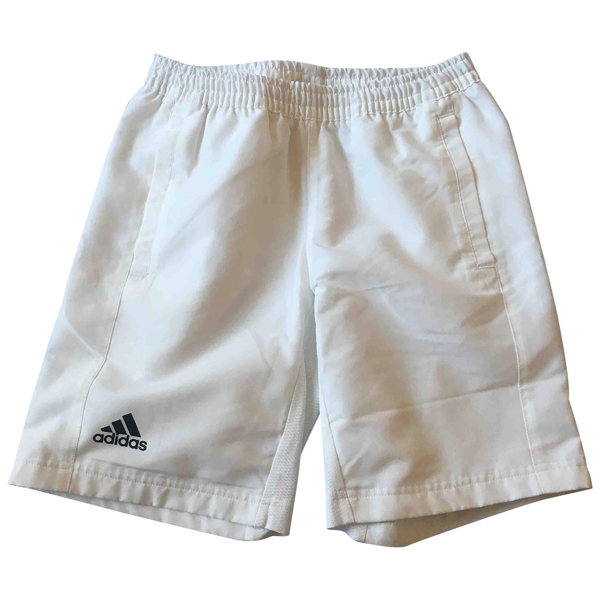 Adidas - Short   pour enfant - blanc