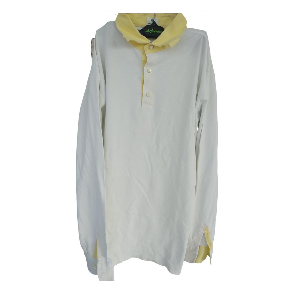 Borrelli - Polos   pour homme en coton - jaune