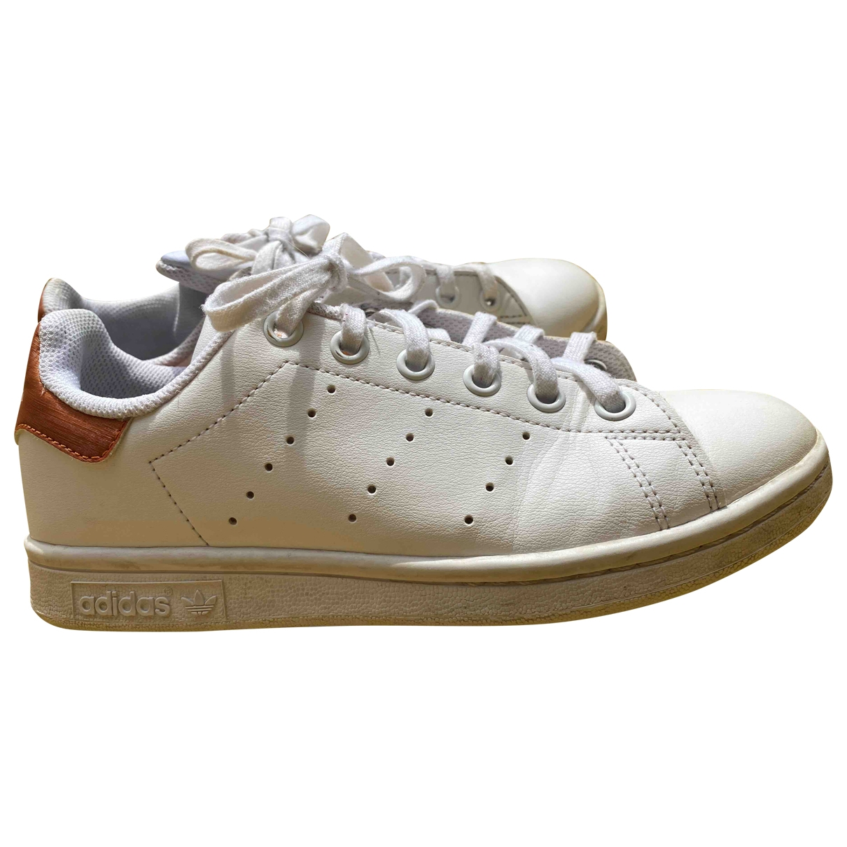 Adidas Stan Smith White Leather Trainers for Kids 35 EU
