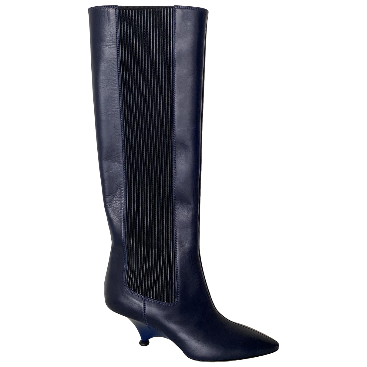 Kenzo \N Blue Leather Boots for Women 37 EU