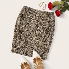 Rock mit Leopard Muster