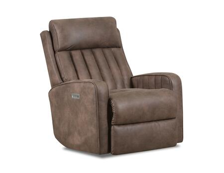 Bowen Collection 4231P2-19BOWENCOCOA Powered Rocker Recliner with Powered Headrest  Made in USA  Steel Recliner Mechanism  Contemporary Style