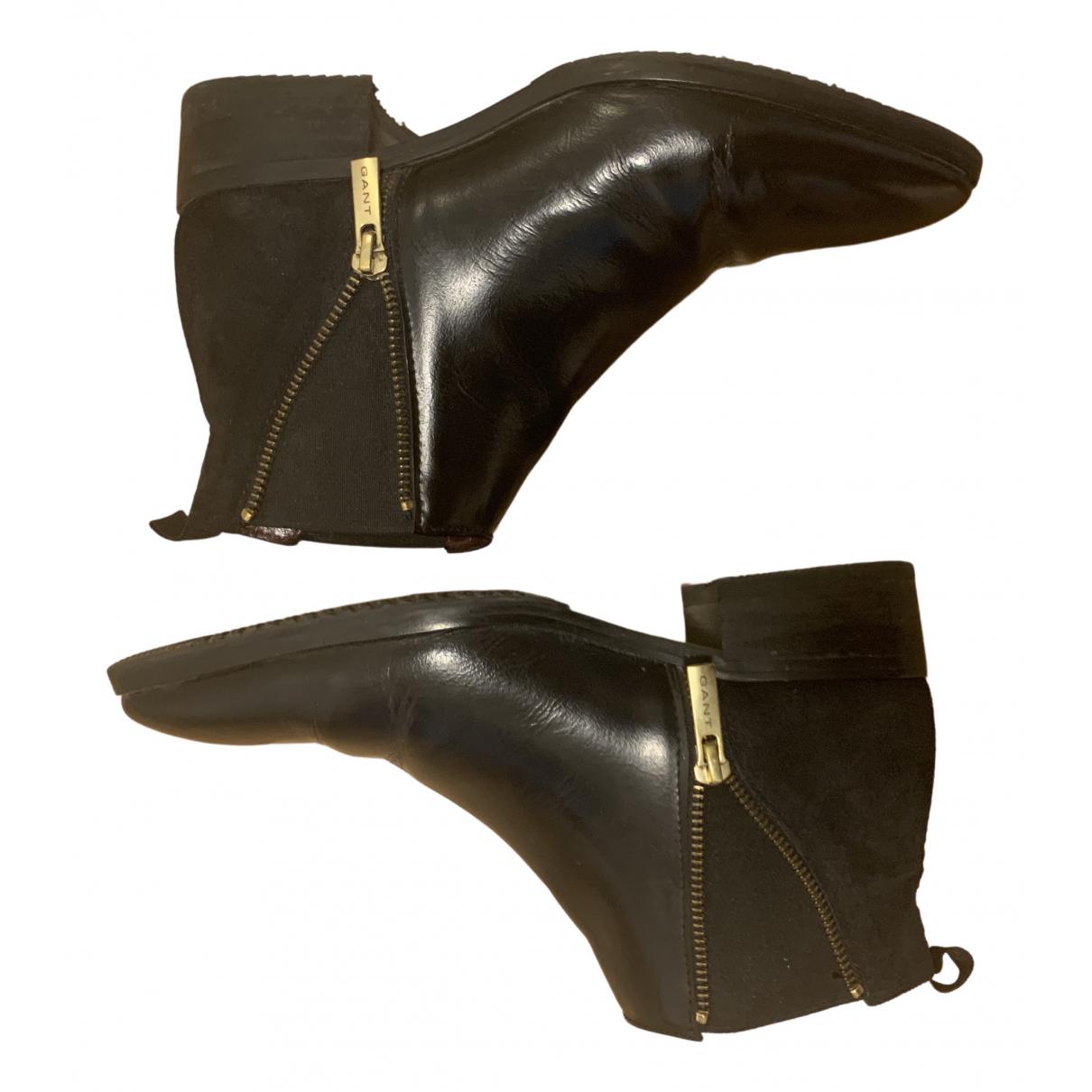 Gant \N Stiefel in  Schwarz Lackleder