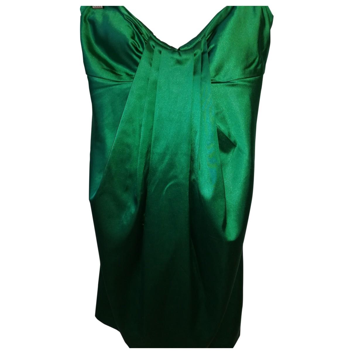Pinko - Robe   pour femme en coton - vert