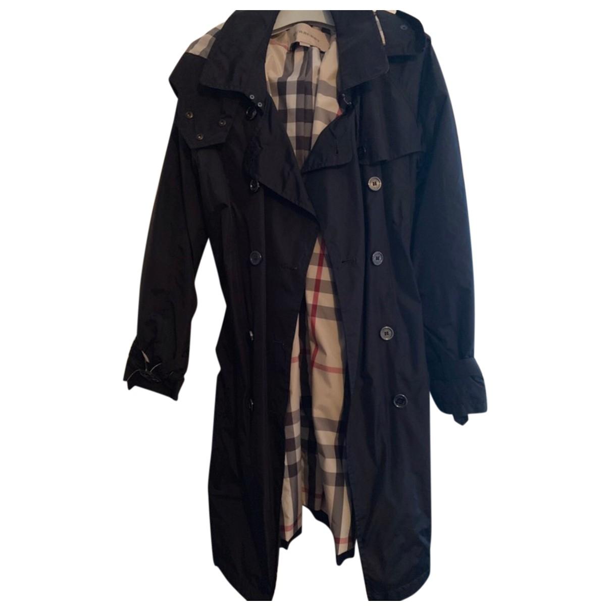 Burberry \N Black Trench coat for Women 32 FR