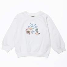 Pullover mit Buchstaben Stickereien