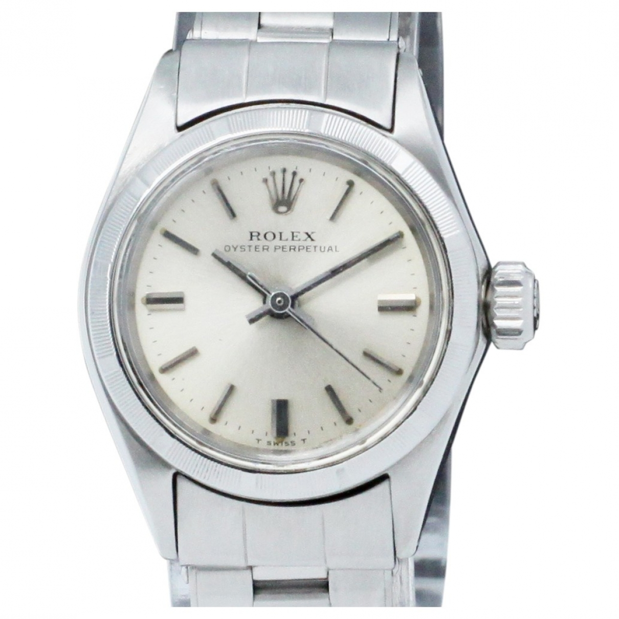 Rolex Lady Oyster Perpetual 26mm Silver Steel watch for Women \N