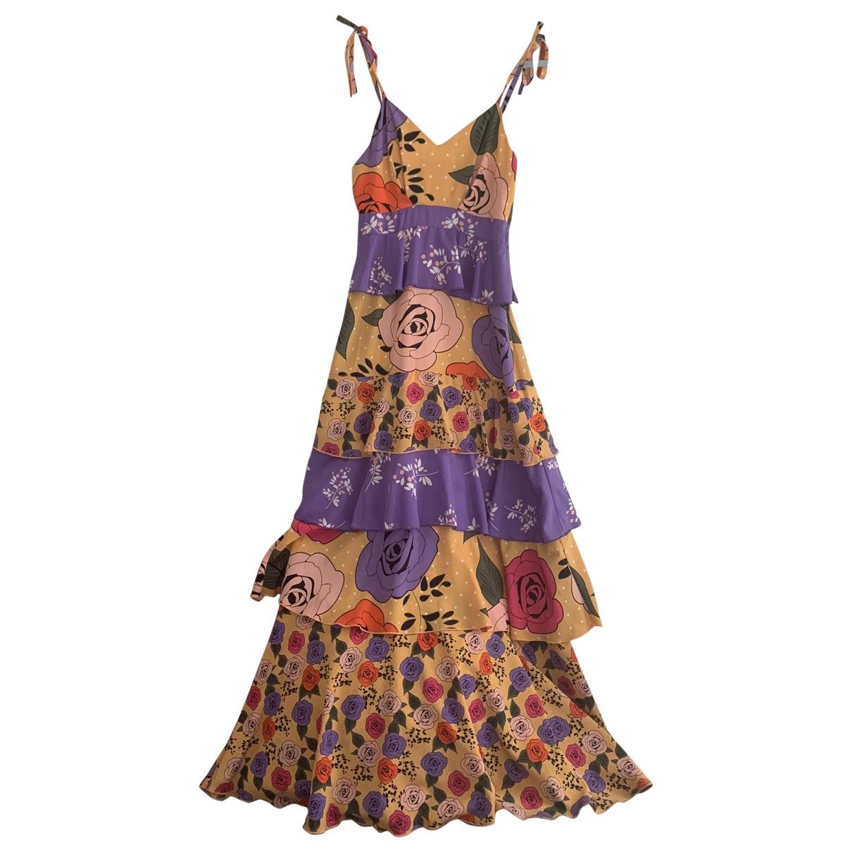 - Robe   pour femme en soie - multicolore