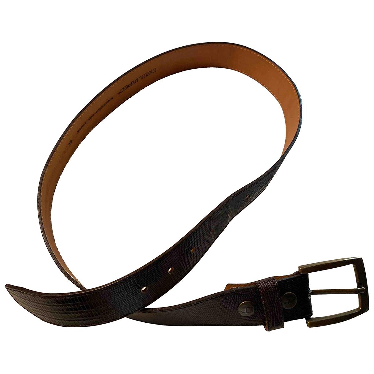 Dsquared2 \N Brown Leather belt for Men M international