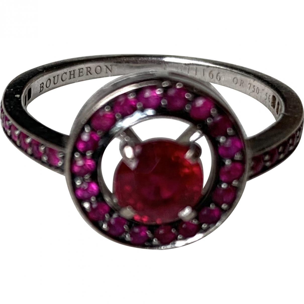 Boucheron Ava Ring in  Rot Weissgold