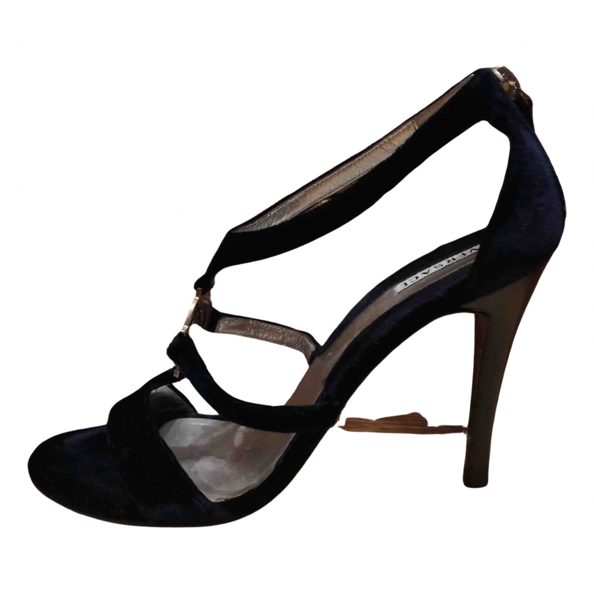 Versace \N Sandalen in  Blau Samt