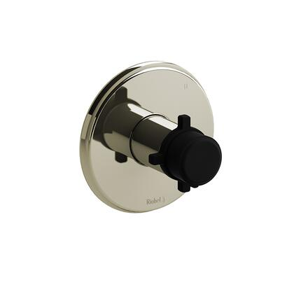 Momenti TMMRD47+PNBK 3-Way No Share Thermostatic/Pressure Balance Coaxial Valve Trim with + Cross Handles  in Polished