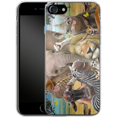 Apple iPhone 8 Silikon Handyhuelle - Africa Selfie von Howard Robinson