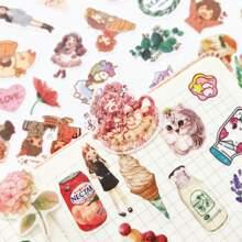 100pcs Mixed Pattern Sticker