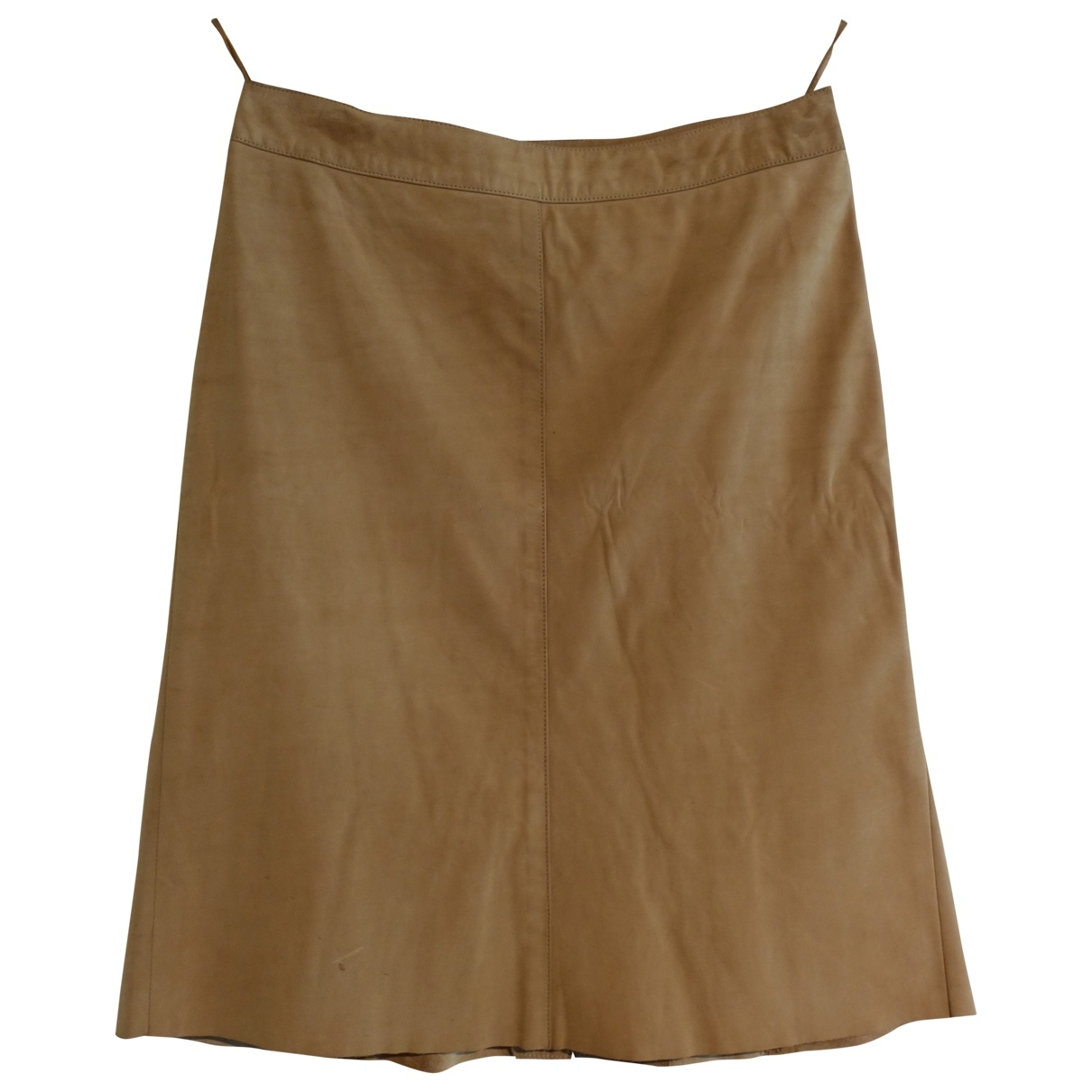 Prada - Jupe   pour femme en cuir - beige