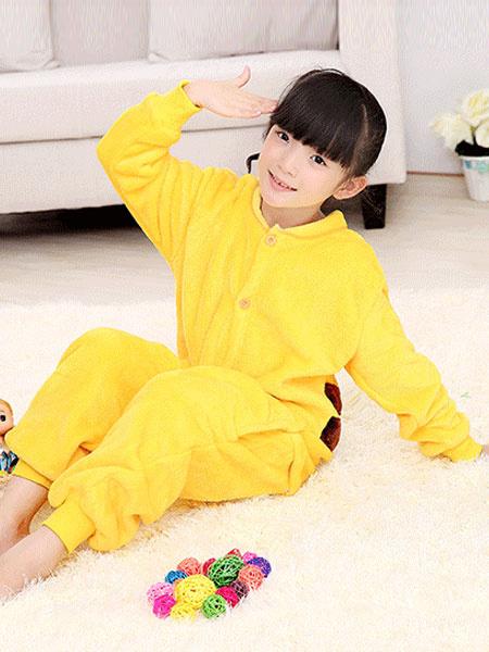Milanoo Kigurumi Pajamas Pikachu Onesie Flannel kids Yellow Winter Sleepwear Mascot Animal Costume Halloween