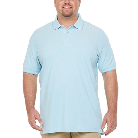 The Foundry Big & Tall Supply Co. Big and Tall Mens Short Sleeve Polo Shirt, Large Tall , Blue