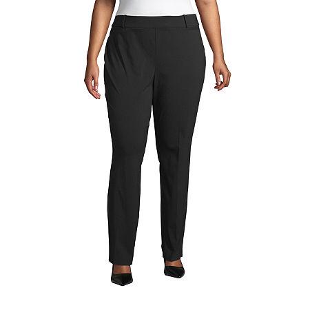 Liz Claiborne Womens Millenium Pant - Plus, 14w , Black