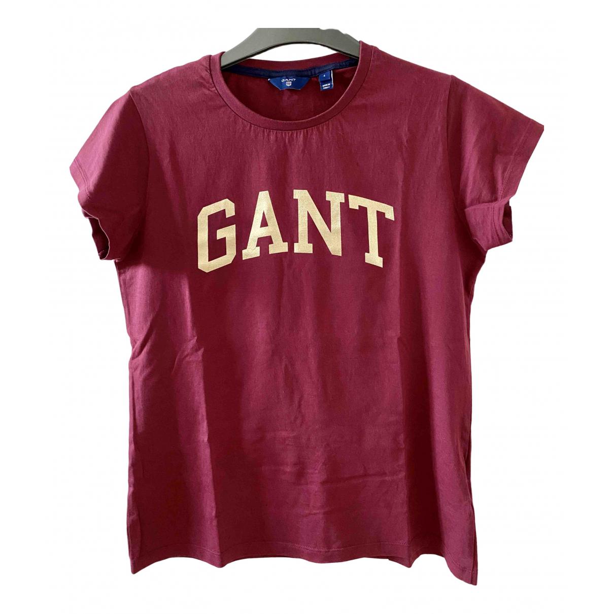 Gant - Top   pour femme en coton - bordeaux
