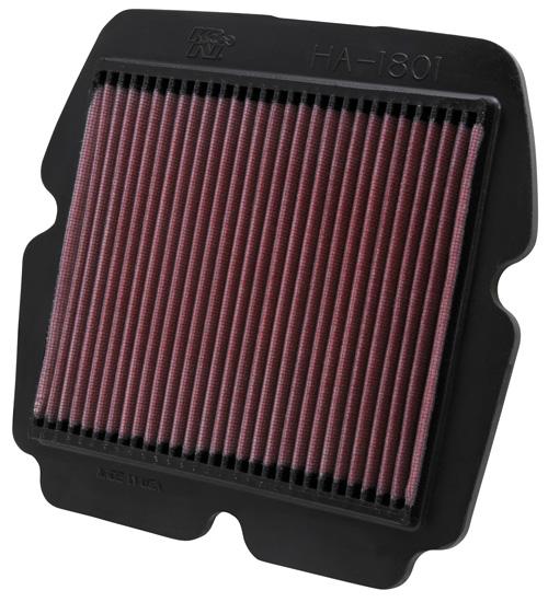 K&N HA-1801 Replacement Air Filter Honda Moto -L --Cyl