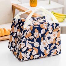 Isolierte Lunch-Tasche mit Blumen Muster