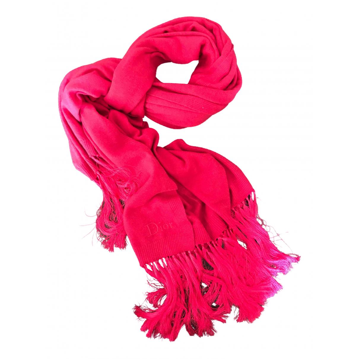 Christian Dior - Foulard   pour femme en cachemire - rose