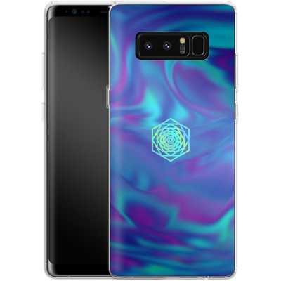 Samsung Galaxy Note 8 Silikon Handyhuelle - PSYCHEDELIC BLUE von Berlin Techno Collective